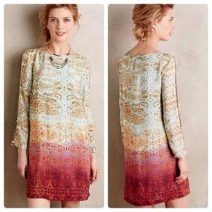 Anthropologie Maeve NWOT Cleome Dip Dye Dress